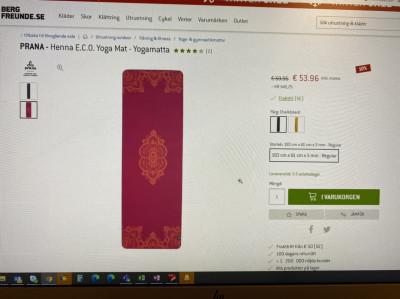 Image 2 from Yelyzaveta of Prana - Henna E.C.O. Yoga Mat - Yoga mat