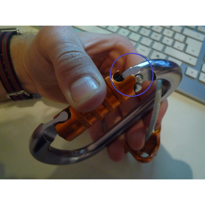 Image 1 from David of Petzl - William Triact - HMS carabiner
