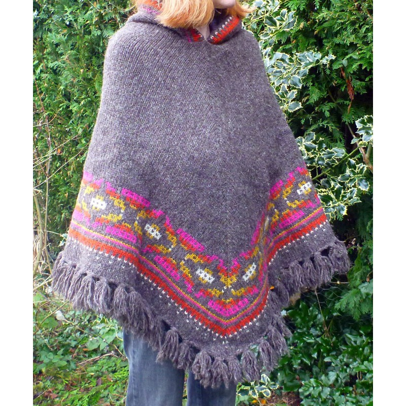 Image 1 from Karen of Sherpa - Women's Samchi Poncho - Wool jacket