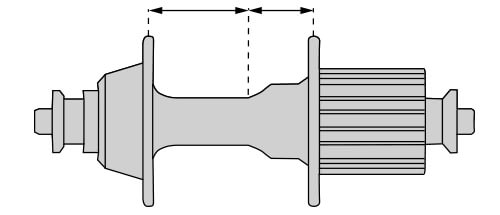 Hub flange distances to the centre of the impeller