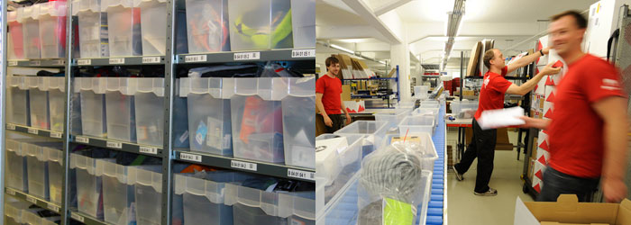 We currently have over 120,000 items in stock; on peak days, we process over 4,500 orders.