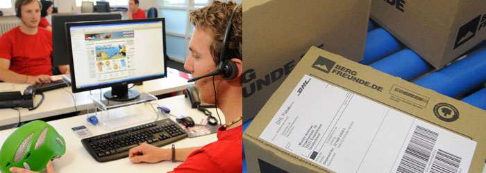 We are here for you! Our customer service team offers advice — logistics ensure fast deliveries